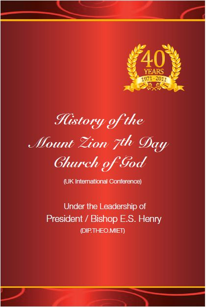 History of Mt Zion | Mount Zion 7th Day Church of God