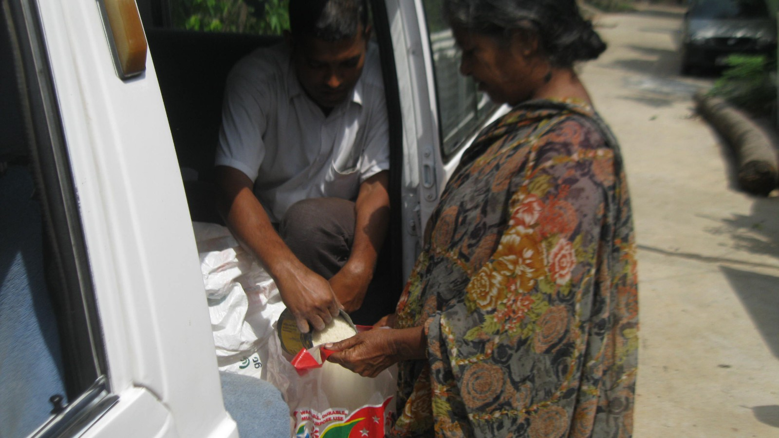 Supplying Monthly Food & Rice for aged people